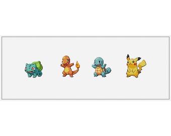 Pokemon Starters and Pikachu