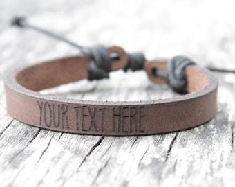 Personalized leather bracelet, leather bracelet, personalized gift, leather gift, personalized gift