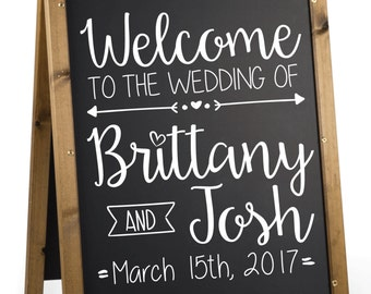 Wedding Welcome Sign Decal.  Welcome to Our Wedding Sign Decal.  Custom Welcome Sign Decal for Wedding.   Personalized Wedding Welcome Decal