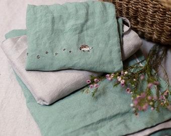 Linen Baby Bedding Set, Linen Toddler Bedding set, Duvet Cover and Pillow Cover, Washed Linen, Nursery Bedding, Kids Bedding