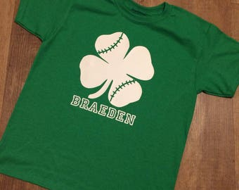 Baseball Shamrock Youth Tee