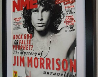 The Doors Jim Morrison Luxury Framed Original NME Certificate Supplied Totally Unique