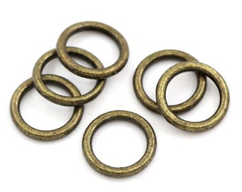 Round 4 ring connector bronze 8mm