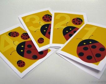 Zozulka Ladybug Ukrainian Children's Birthday card 5.5 x 4.25