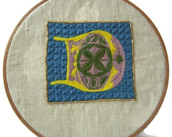 Traditional embroidery kit - Illuminated D