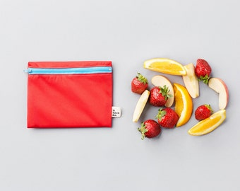 Custom trio ~ means reusable snack bags ~ Reusable snack and sandwich zipper bags