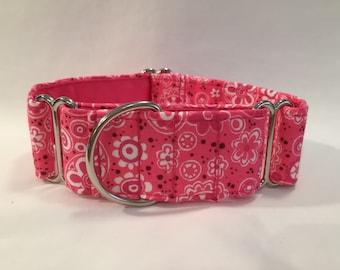 "1.5"" Light Pink Bandana Martingale Collar"