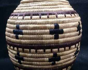 Alaska Native Grass Basket