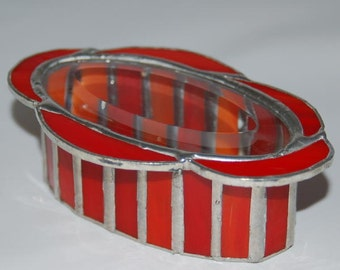 Oval Stained Glass Box
