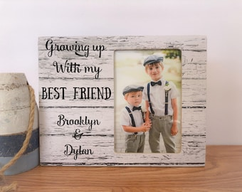 Personalized Brothers Picture Frame Gift Brothers Forever Frame Personalized Gift for Siblings
