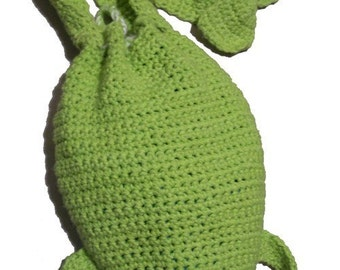 Frog Drawstring Bag - Crochet Pattern