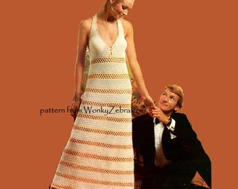 Halter Bond Girl Vintage Crochet Pattern PDF 690 from WonkyZebra