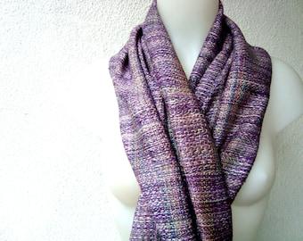 Handwoven Silk Scarf / Shawl / Wrap, Unique scarf, Purple, Hand dyed