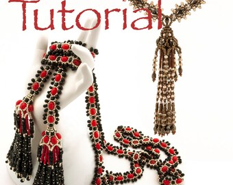 Seed Bead Tutorial Tasseled Twice Lariat and Necklace