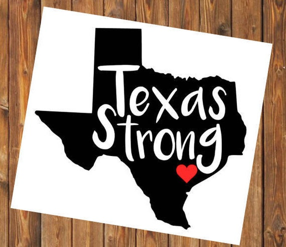 Free Shipping-Hurricane Harvey, Houston Strong, Texas Strong, Red Cross Hurricane Relief, Charity, Flood Support, Yeti /Car Window Decal