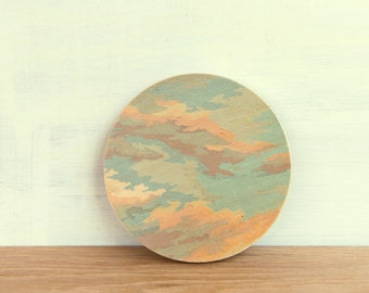Paint by Number Circle Art Block 'Cloudy Sky' -  clouds, sunset, vintage art