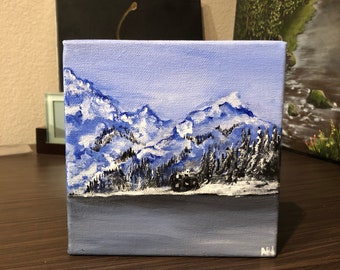 Original mini CALM acrylic painting on canvas