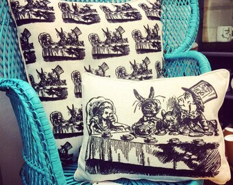 Mad Hatters Tea Party Cushion