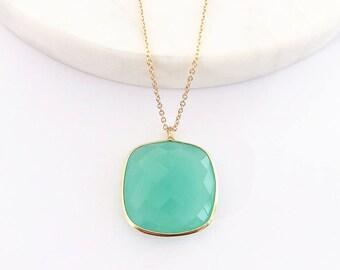 Aqua Chalcedony Gemstone Earrings - Gemstone Earrings - Drop Earrings