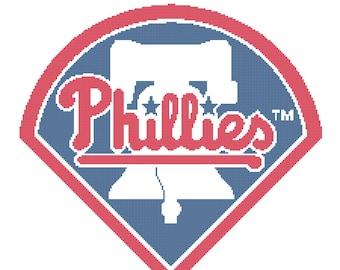 Philadelphia Phillies -- Counted Cross Stitch Chart Patterns, 3 sizes!