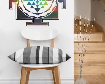 Sri Yantra Square | mandala vinyl Wall DECAL | seed Sacred geometry, sticker art, home decor, rainbow