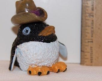 Crazy Cowboy Puff Penguin Figure