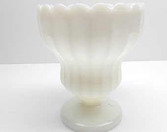 Vintgae Milk Glass Vase