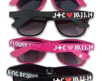 Ring Bearer Gift - Flower Girl Gift - Ring Bearer & Flower Girl Sunglasses - Child Size Sunglasses - Personalized Sunglasses