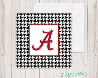 Enclosure Gift Cards, Gift Tags, Stickers, Personalized Gift Enclosure Cards, Monogrammed Stationery Note Cards, Alabama