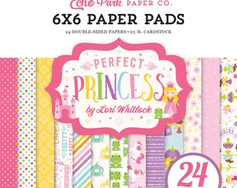 Echo Park Paper PERFECT PRINCESS 6x6 Scrapbook Paper Pad