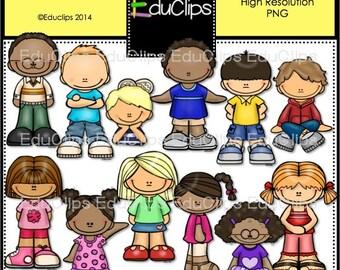 Happy Kids Clip Art Bundle