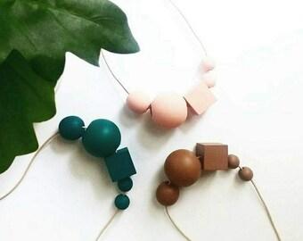 NOLA - Wooden Bead Necklace