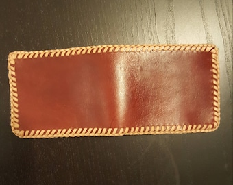 Laced Leather Billfold
