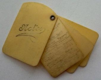 Antique Carnet De Bal Aide Memoire Dance Card