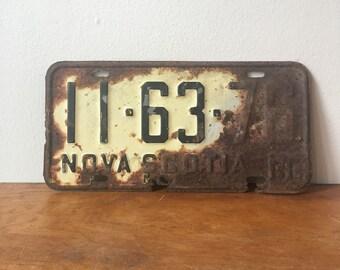 Vintage Nova Scotia License Plate