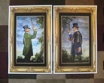 Disney Haunted Mansion ( Dueling Ghosts ) Collector's Poster Prints ( Set of Two )