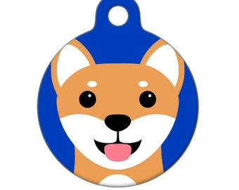 Pet ID Tag - Shiba Inu Pet Tag, Dog Tag