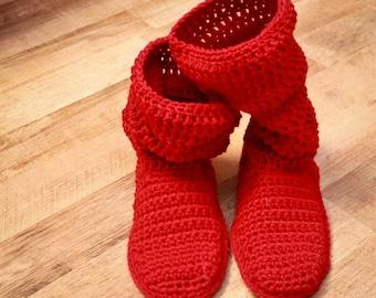 Crochet Slipper Pattern - Mamachee Boots (Adult Women Sizes)