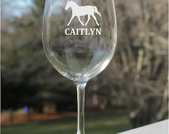 etched wine glasses, horse wine glass,  personalized wine glasses, etched Wine Glasses, wine glass, etched wine glass personalized, engraved