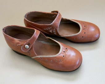 Girls Shoes Leather Butterscotch Mary Jane Style Peters Shoe Co Diamond Brand St Louise 226A
