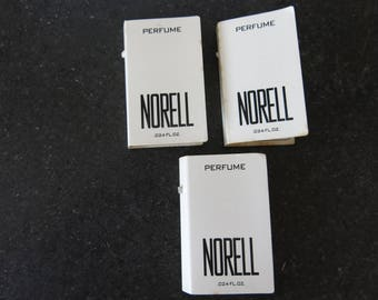 vintage & rare NORELL Perfume Travel Sample LOT (3)