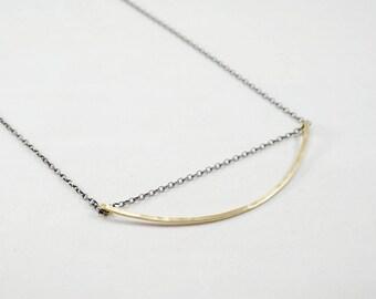 Minimal Brass Arc Necklace