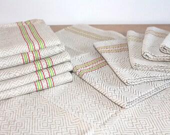 Tissu lin Français, serviettes de cuisine Français, linges à vaisselle, linge de cuisine, torchons, chalet, décoration de cuisine rustique, Français ferme