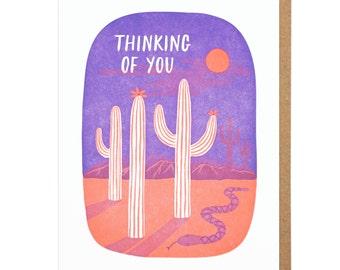Thinking of You Desert Letterpress Card