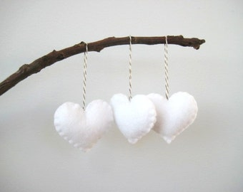 Felt heart ornaments Valentine's Day Decor Valentines Day Decorations Heart Ornaments Christmas Tree Ornament Wedding Favors