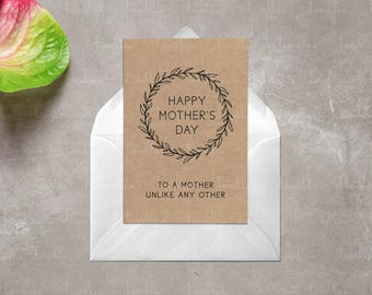 Printable Mother's Day Card | Printable Mothers Day Card | Mother's Day Card for Wife, Grandmother, Mother-in-law, Aunt, Sister or just Mom!