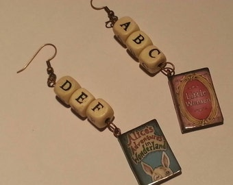 Literary earrings