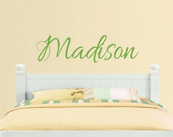 Name Decal Wall Girls Vinyl - Personalized Name Wall Decal - Teen girls Name Decal