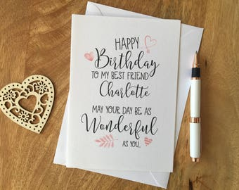Personalised Birthday Card Mum Daughter Niece Aunty Best Friend Sister For Her
