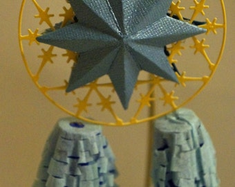 One  Blue Miniature Filipino Christmas Lantern aka Parol - Great Wedding Giveaways